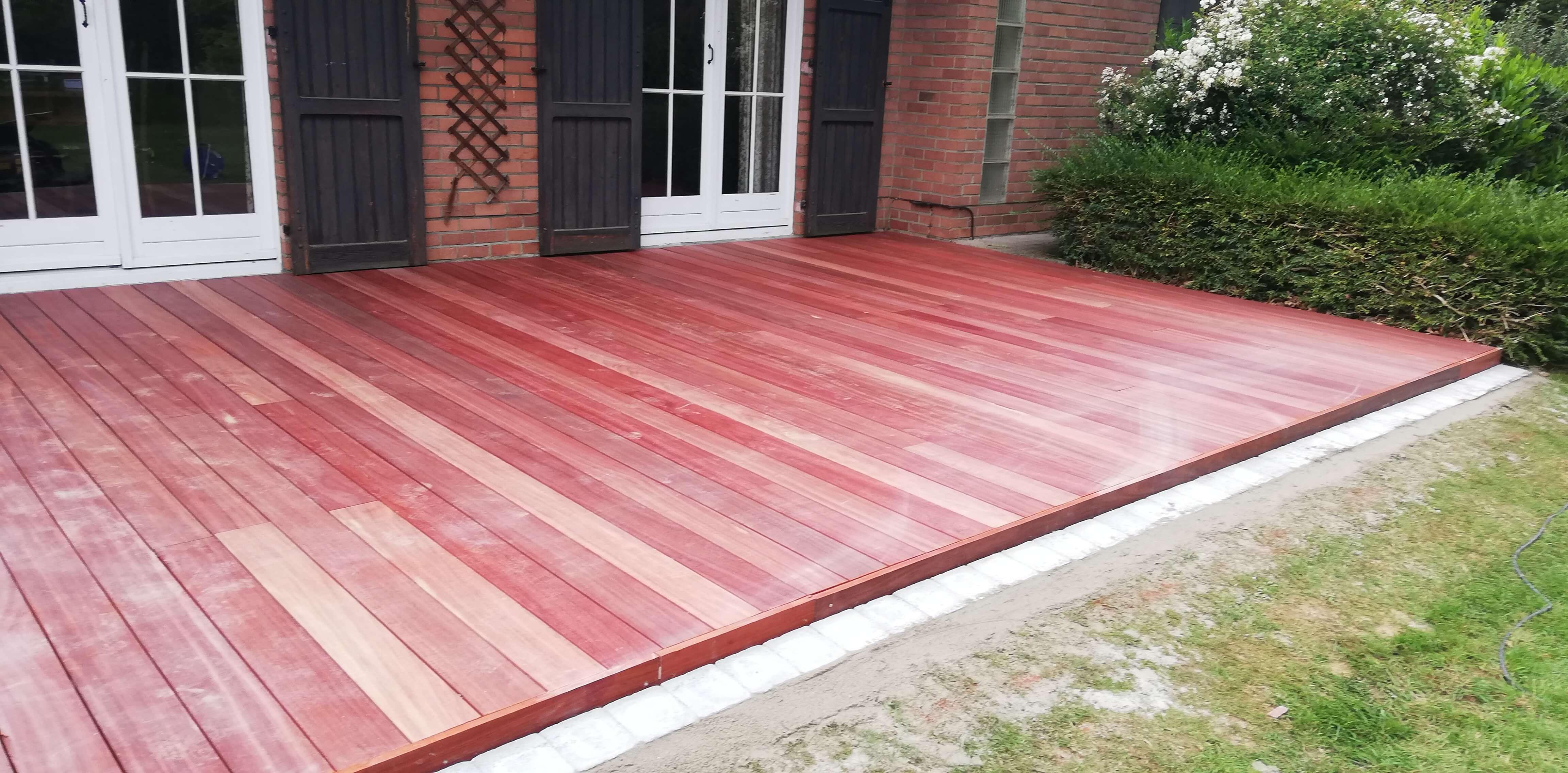 terrasse en bois de padouk
