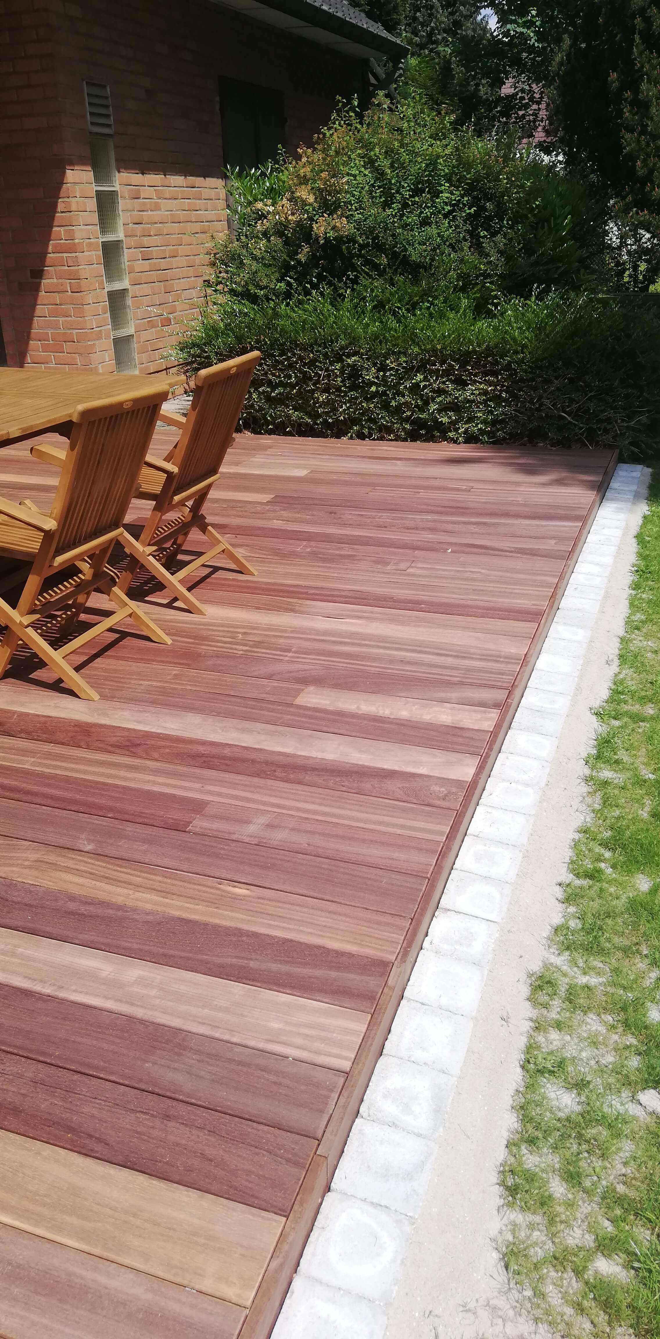 terrasse en bois de padouk - Jardinier Laurent entreprise de ...